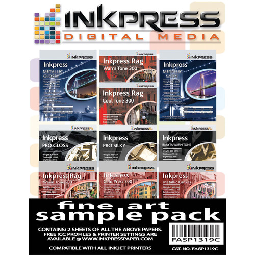 "Inkpress Media Fine Art Sample Pack (13 x 19"", 18 Sheets)"