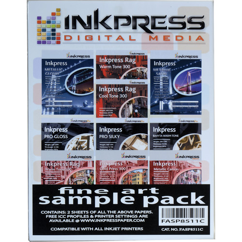 "Inkpress Media Fine Art Sample Pack (8.5 x 11"", 18 Sheets)"