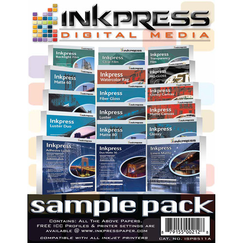 "Inkpress Media Sample Pack (8.5 x 11"")"