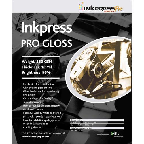 "Inkpress Media Pro Glossy Paper (4 x 6"", 100 Sheets)"