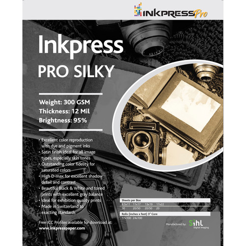 "Inkpress Media Pro Silky Paper (11 x 14"", 50 Sheets)"