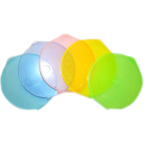 Inland Products Clam Shell Disc Case (25-Pack, Assorted 5 Colors)