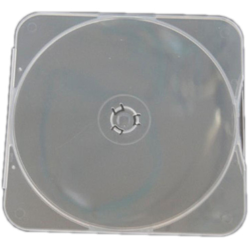 Inland Products Clam Shell Square-Shaped Disc Case (25-Pack, Clear)