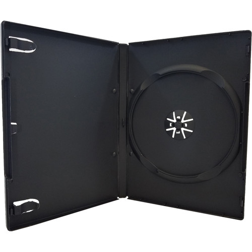 Inland Products 14mm 1-Disc Capacity DVD Case (Black, 10-Pack)