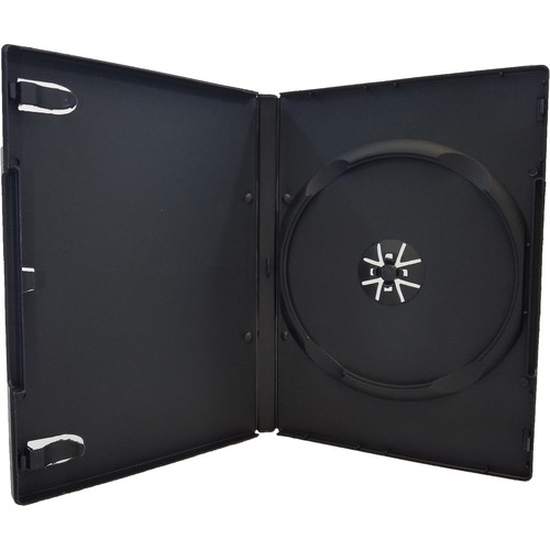 Inland Products 14mm 1-Disc Capacity DVD Case (Black, 20-Pack)