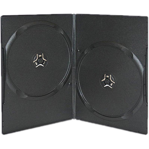 Inland Products 7mm Slim 2-Disc Capacity DVD Case (20-Pack, Black)