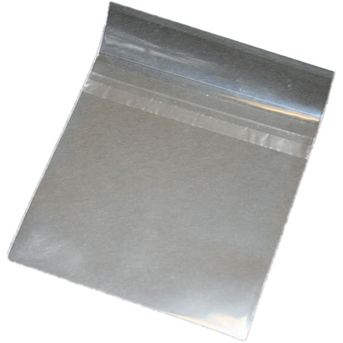 Inland Products CD/DVD CPP Sleeves with Sealable Flap (Clear, 50-Pack)