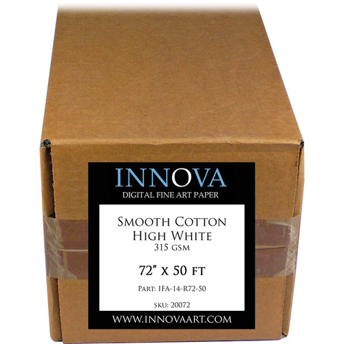 "Innova Smooth Cotton High White Archival Photo Inkjet Paper (72"" x 50')"