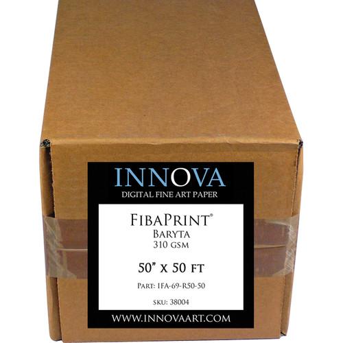 "Innova FibaPrint Baryta Paper (50"" x 50' Roll)"