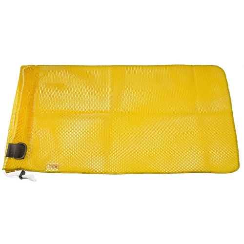 "Innovative Scuba Concepts Extra Heavy-Duty Mesh Drawstring Dive Bag with D-Ring (Medium, 18 x 30"", Yellow)"