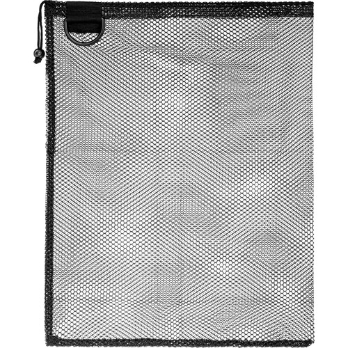 "Innovative Scuba Concepts Econo Mesh Drawstring Bag with D-Ring (Small, 16 x 20"", Black)"