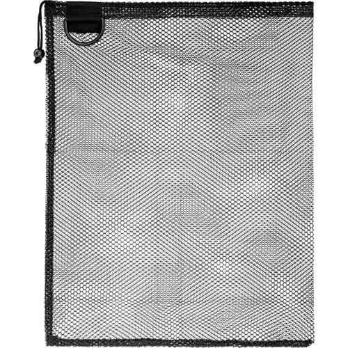 "Innovative Scuba Concepts Econo Mesh Drawstring Bag with D-Ring (Small, 16 x 20"", Black)"