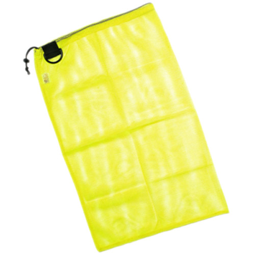 "Innovative Scuba Concepts Econo Mesh Drawstring Bag with D-Ring (Medium, 18 x 30"", Yellow)"
