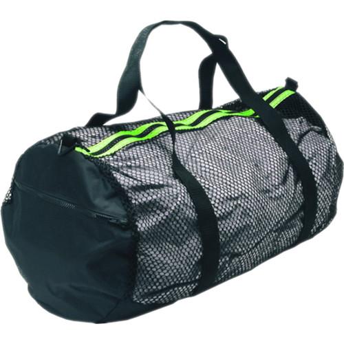 Innovative Scuba Concepts Heavy-Duty Mesh/Nylon Deluxe Duffel Bag (Medium, Black/Yellow)