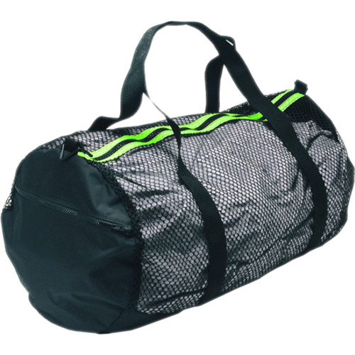 Innovative Scuba Concepts Heavy-Duty Mesh/Nylon Deluxe Duffel Bag (Medium, Black/Yellow)