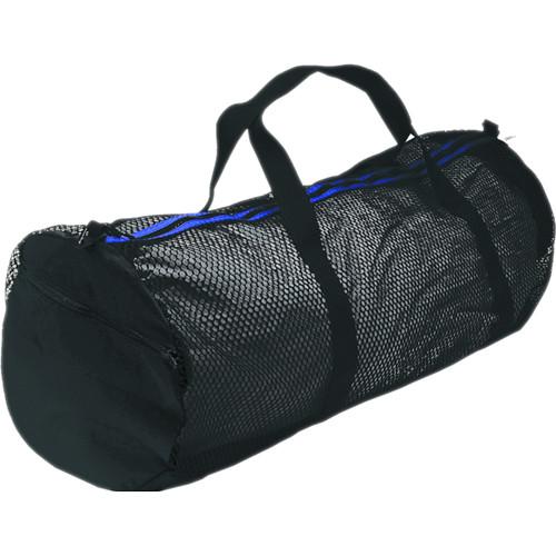 Innovative Scuba Concepts Heavy-Duty Mesh/Nylon Deluxe Duffel Bag (Large, Black/Blue)