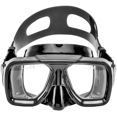 Innovative Scuba Concepts Double Lens Reef Mask (Adult, Black/Clear)