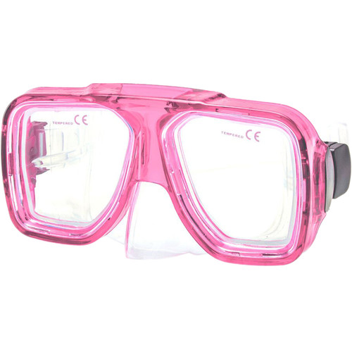 Innovative Scuba Concepts Double Lens Reef Mask (Adult, Translucent Pink/Clear)