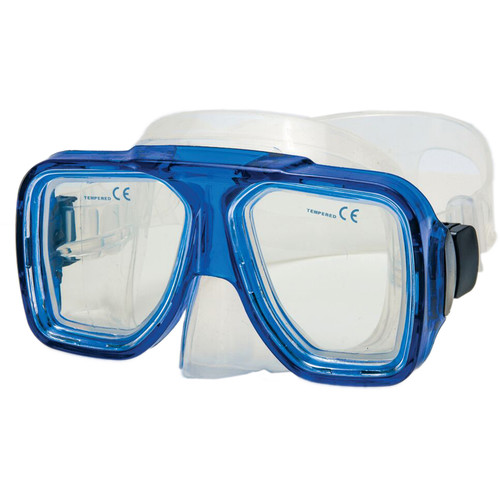 Innovative Scuba Concepts Double Lens Reef Mask (Adult, Translucent Blue/Clear)