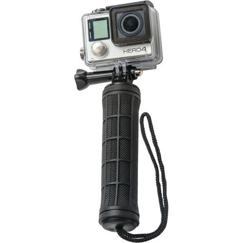 "Innovative Scuba Concepts Pro Mounts Heavy-Duty Handheld Selfie Grip with Lanyard (6"", Black Rubber)"