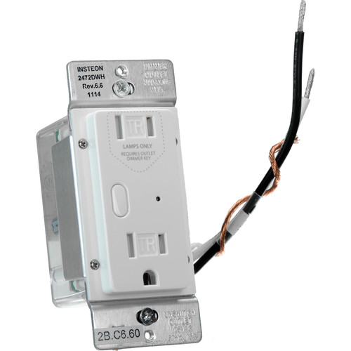 INSTEON Dual-Band Remote Control Dimmer Outlet (White)