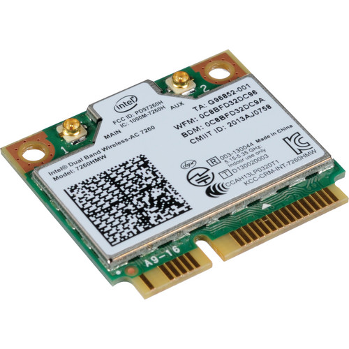 Intel IEEE 7260HMW 802.11 AC Mini PCIe Adaptor
