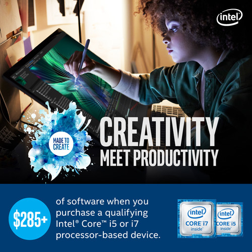 Intel Adobe Creative Bundle, Includes 7 free subscriptions or downloads