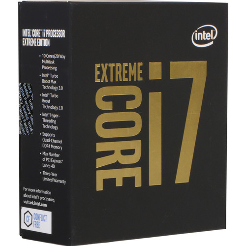Intel Core i7-6950X 3.0 GHz Ten-Core LGA 2011-v3 Extreme Edition Processor (Retail)