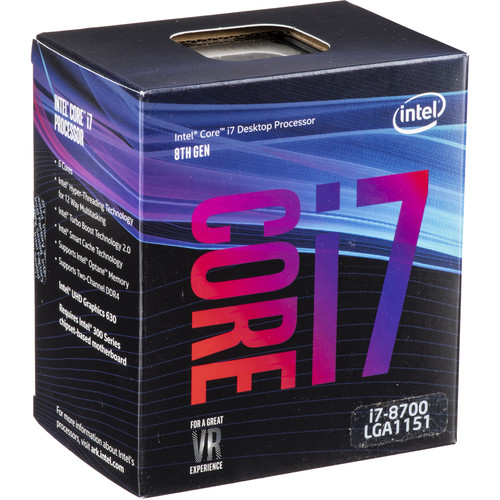 Intel Core i7-8700 3.2 GHz 6-Core LGA 1151 Processor