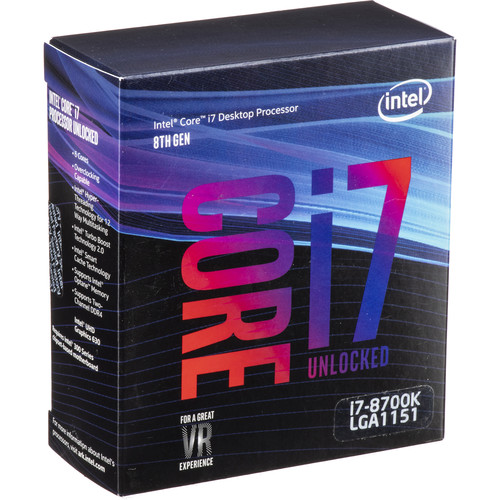 Intel Core i7-8700K 3.7 GHz 6-Core LGA 1151 Processor