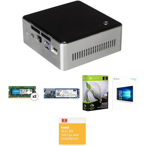 Intel NUC5i3RYH Mini PC NUC Bundle with 8GB RAM, 275GB SSD, and 2TB HDD (B&H Kit)