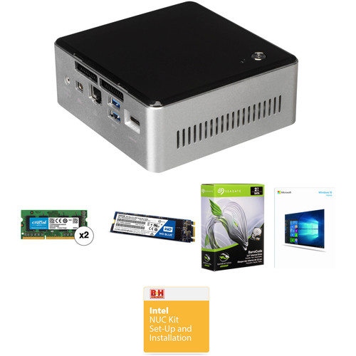 Intel NUC5I7RYH Mini PC NUC Bundle with 16GB RAM, 250GB SSD, and 2TB HDD (B&H Kit)