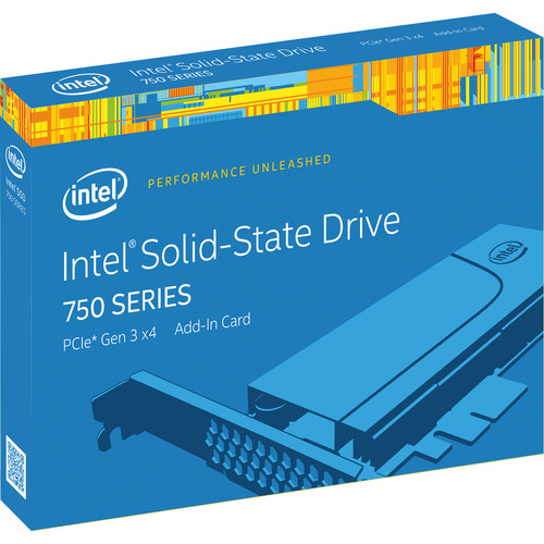 """Intel 400GB 750 Series 2.5"""" NVM Express SSD with PCIe 3.0 Add-in-Card"""