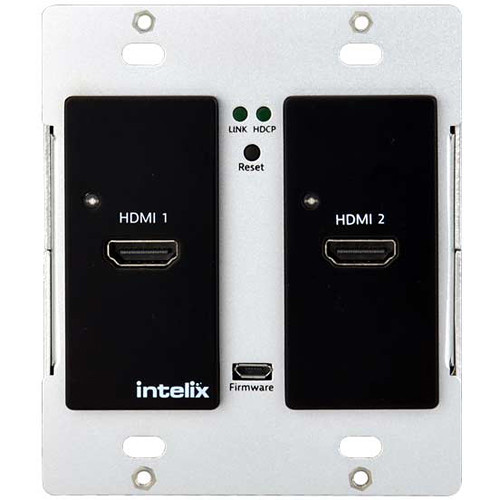 Intelix Two-Gang HDMI Auto-Switching Wallplate with HDBaseT Port (Black)