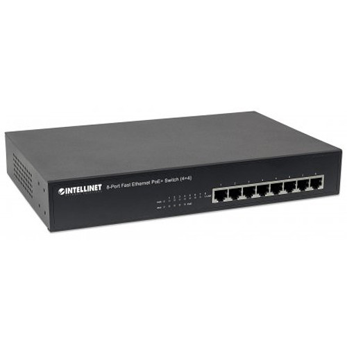 Intellinet 8-Port Fast Ethernet PoE+ Switch