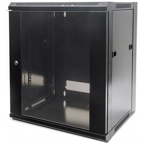 "Intellinet 19"" Wall-Mount Cabinet (Black)"
