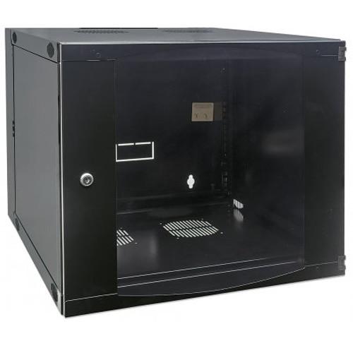 """Intellinet 713863 19"""" Double-Section Wallmount Cabinet (12 RU, Black)"""