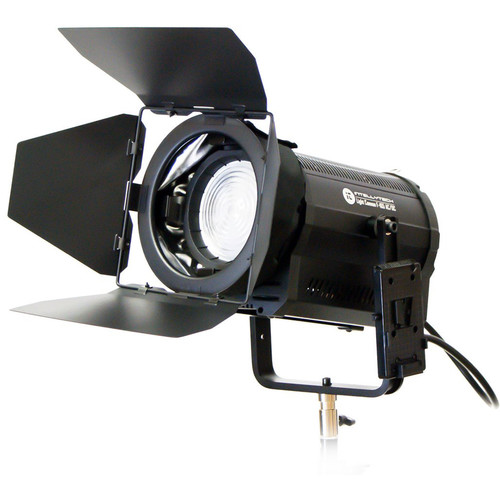 Intellytech Light Cannon F-165 AC/DC 5500K High-Output LED Fresnel with Wi-Fi and Gold Mount Battery Plate