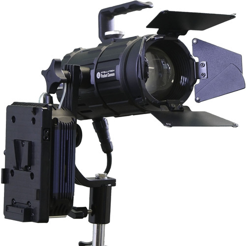Intellytech Pocket Cannon Daylight Focusable LED Fresnel Kit (V-Mount / NP-F)