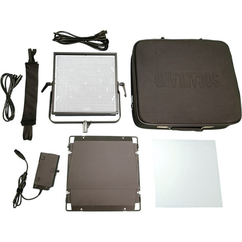 Intellytech Nova-X Bi-Color DMX 60-Degree Flood 1x1 Panel Kit with Gold Mount Battery Plate