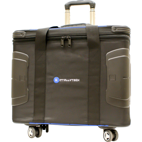 Intellytech IT-C2.1 Hard Case with Rails & Wheels for Two 1x1 Light Panels (Black)