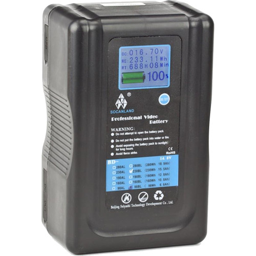 Intellytech Socanland 230Wh Lithium-Ion Battery with Anton Bauer Mount