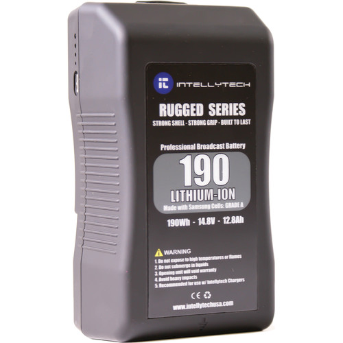 Intellytech 190Wh Rugged Series Li-Ion Battery Pack with V-Mount