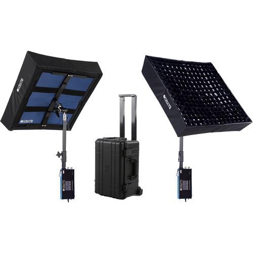 Intellytech LiteCloth LC-160 2 x 2' Foldable LED Mat 2-Light Kit (V-Mount)