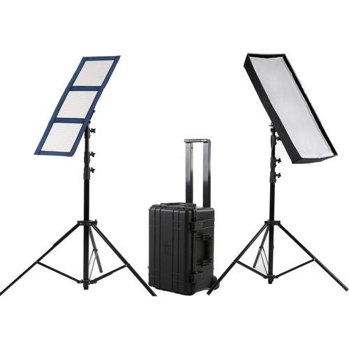 Intellytech LiteCloth LC-120 1 x 3' Foldable LED Mat 2-Light Kit (Gold Mount)
