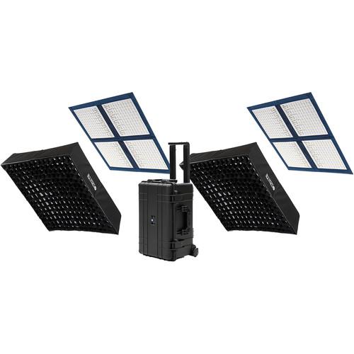 Intellytech LiteCloth LC-160RGBW 2 x 2' Foldable LED 2-Mat Kit (V-Mount)