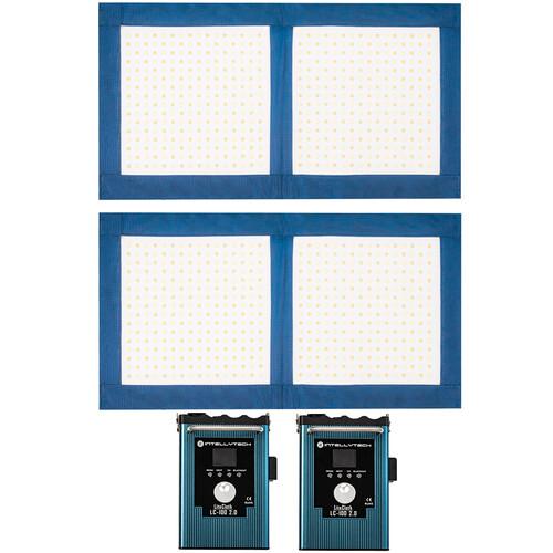 Intellytech LiteCloth 2.0 LC-100 Foldable 1 x 2 LED Two-Mat Kit (Gold Mount)