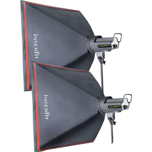 Interfit EX200Ti 2-Light Softbox Kit
