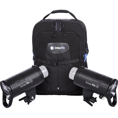 Interfit S1 500Ws TTL Battery-Powered 2-Monolight Backpack Kit