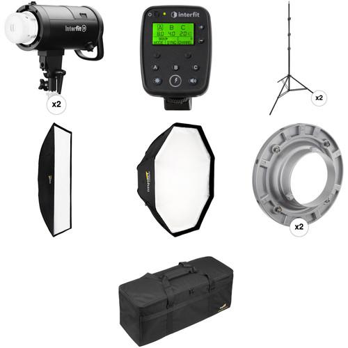 Interfit S1 AC/DC 2-Light TTL Pro Flash Kit for Nikon